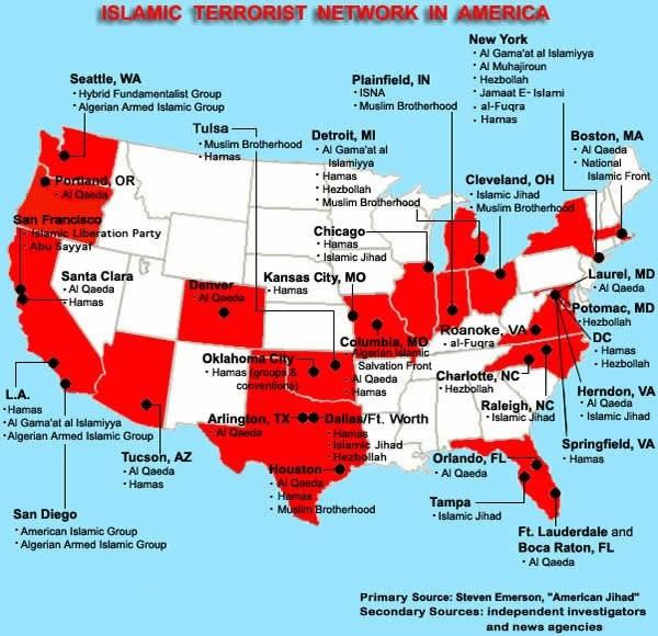 US Terroist Camp Map