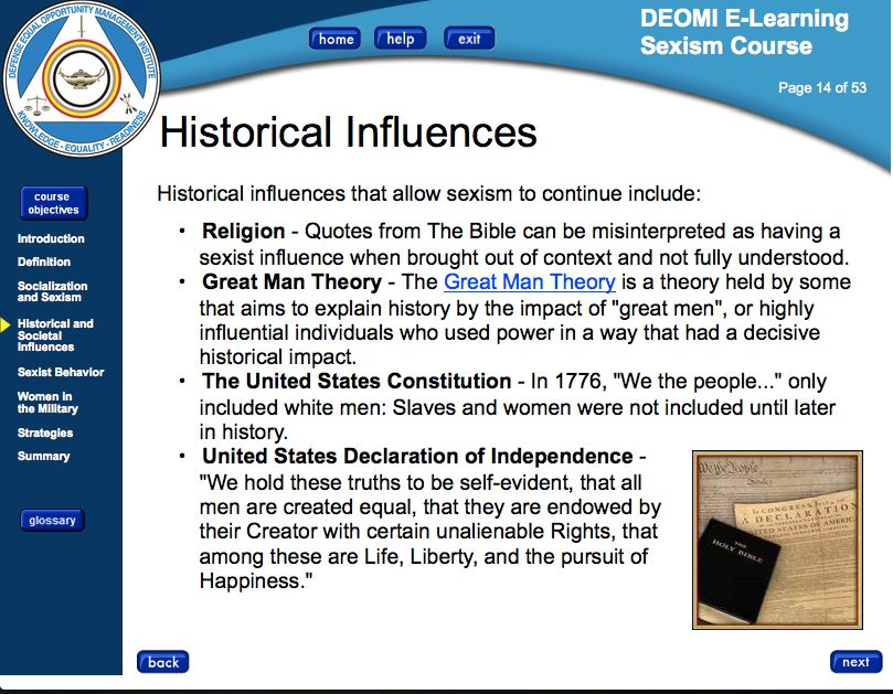 Defense Department declaration of Independnce