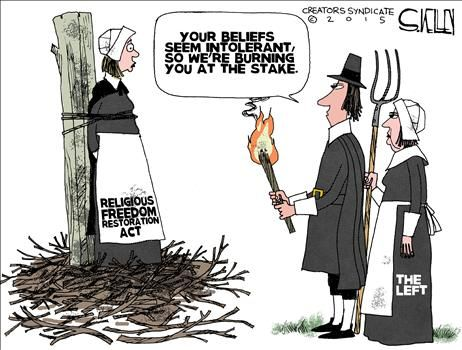 Editorial Cartoon_Religious Freedom Restoration Act