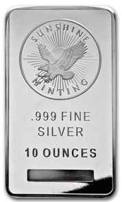 Ten Ounce Silver Bar