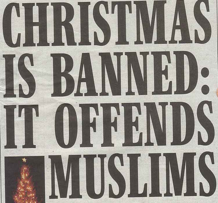 Christmas is banned