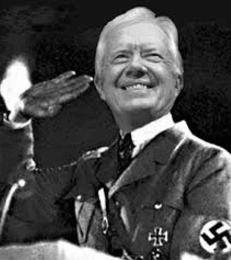 Jimmy Carter as Hitler