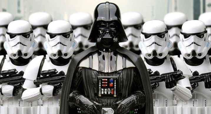 vader and stormtroopers