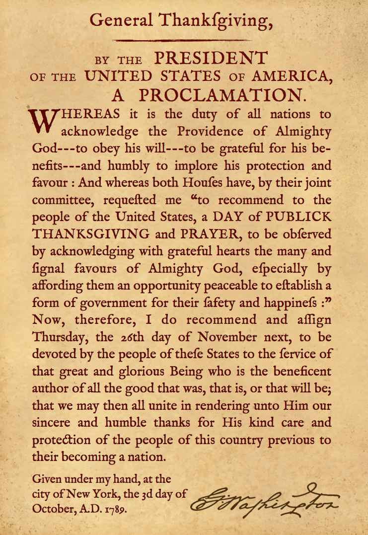 General Thanksgiving_Washington