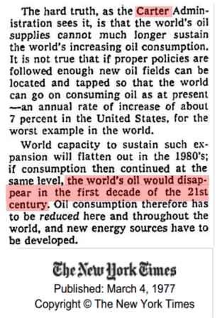Jimmy Carter_Peak Oil