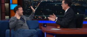 Ricky Gervais and Stephen Colbert Debate the Existence of God